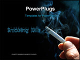 PowerPoint Template - A smoking cigarette