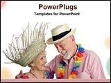 PowerPoint Template - senior couple enjoying vacation
