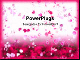PowerPoint Template - Sakura Snowfall Petals Abstract Background in Pink and White