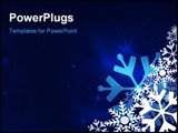 PowerPoint Template - Snowflake christmas festive blue background with stars