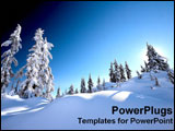 PowerPoint Template - Fir trees are covered by the winter snow.