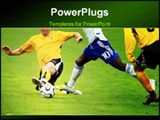 PowerPoint Template - Soccer match. soccer player with a ball