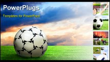 PowerPoint Template - soccer soccer ball football football sport game