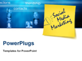 PowerPoint Template - Social Media marketing concept with post it