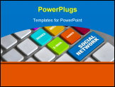 PowerPoint Template - Best computer keyboard detail specially designed for time waste