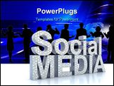 PowerPoint Template - Social Media word 3D concept isolated on white