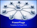 PowerPoint Template - Conceptual human head network - 3d render