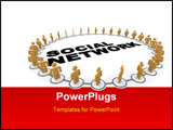PowerPoint Template - A ring of people connected together in a social network