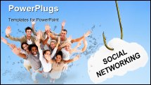 PowerPoint Template - ocial networking