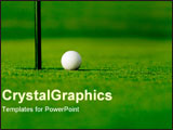 PowerPoint Template - Golf ball next to hole.