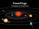 PowerPoint Template - Vector illustration of solar system, consist of 8 planet, sun and asteroid belt