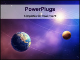PowerPoint Template - Inner four solar system planets (Elements of this image furnished by NASA- earth map