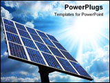 PowerPoint Template - a very big solar green power panel