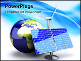 PowerPoint Template - 3D rendered Illustration. Alternative Energy - Europe. Conceptual Image.