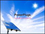 PowerPoint Template - Photovoltaic: a solar panel on a blue sky