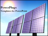 PowerPoint Template - Solar panels shine under the sun.