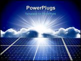 PowerPoint Template - a Solar energy panels with blue sky