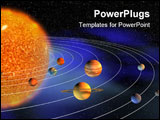 PowerPoint Template - Diagram of planets in solar system