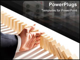 PowerPoint Template - dominoes isolated on white as an abstract management concept