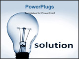 PowerPoint Template - bulb showing concept of business problems and success
