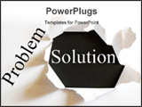PowerPoint Template - solving a business problem with solution in a paper hole