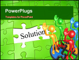 PowerPoint Template - An image of a green jigsaw puzzle solution