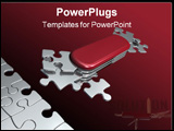 PowerPoint Template - metaphoric swiss puzzle-knife with all necessary shapes for all situation