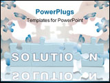 PowerPoint Template - Word the solution on parts of a puzzle