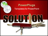 PowerPoint Template - many ways to solve a problem - conceptual.