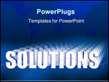PowerPoint Template - solutions illustration 3-d