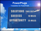 PowerPoint Template - solutions success and opportunity in motivational directions