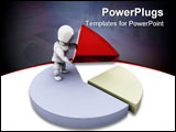 PowerPoint Template - 3D render of someone with a pie chart
