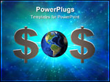 PowerPoint Template - Dollar sign and earth create SOS symbol