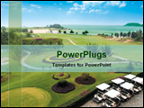 PowerPoint Template - golf ground