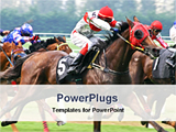 PowerPoint Template - event of a horse racing