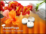 PowerPoint Template - A beautiful orchid towels aromatic candles and bamboo plan