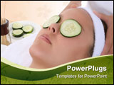 PowerPoint Template - A beautiful young woman getting a facial at the spa