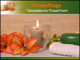 PowerPoint Template - elegant spa items in a wooden spa setting