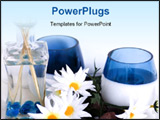 PowerPoint Template - Tranquil spa setting with candles and flowers