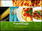 PowerPoint Template - Set collection of italian spaghetti food series