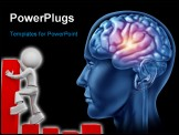 PowerPoint Template - spark of genius brain head lobes cortex intelligence creativity strategy planning