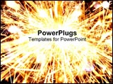 PowerPoint Template - Bright sparkler explosion.