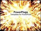PowerPoint Template - Bright sparkler explosion.