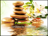 PowerPoint Template - spa stone weddings rings and lily with water