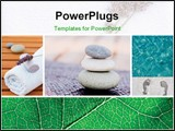 PowerPoint Template - Collection of spa related items forming a set of tranquil scene