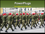 PowerPoint Template - a troop of special forces marching in a military parade
