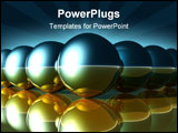 PowerPoint Template - abstract balls and their reflections