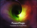 PowerPoint Template - Twisted spiral leaf - look inside of it