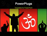 PowerPoint Template - A bright vector illustration of spiritual postures and om