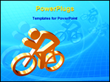 PowerPoint Template - an illustrative image showing bike race